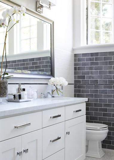 小户型家庭卫生间瓷砖装修效果图大全2014图片