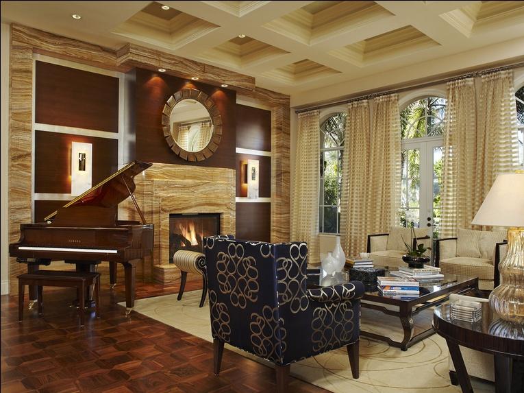 美式风格别墅客厅装修效果图片
