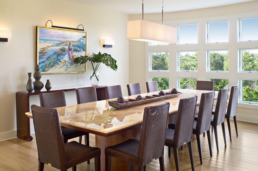 140㎡三室两厅欧式风格餐厅飘窗装修效果图大全