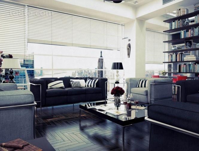 三房两厅现代都市白领客厅装修效果图大全2014图片