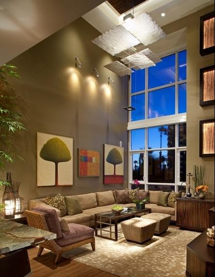 120平米两室两厅美式风格客厅装修效果图