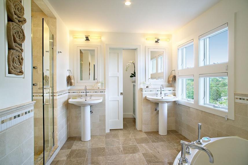 140㎡三室两厅欧式风格卫生间装修效果图大全