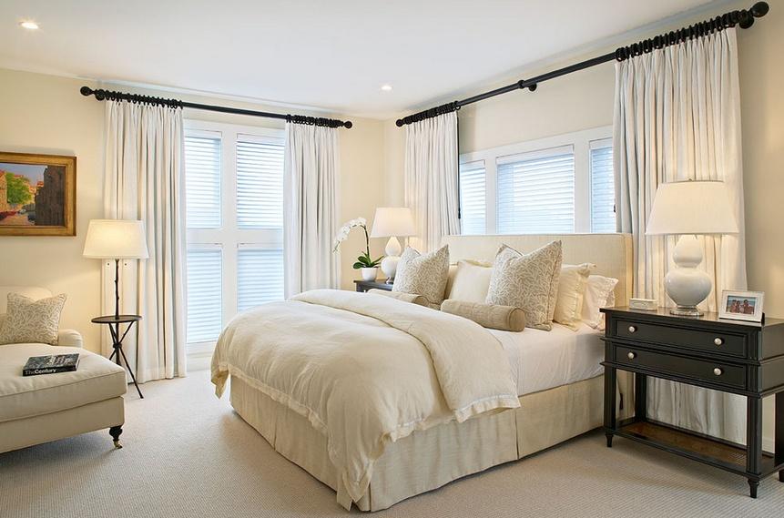 140㎡三室两厅欧式风格卧室装修效果图大全