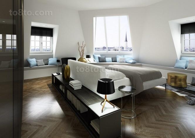 三房两厅现代都市白领卧室装修效果图大全2014图片
