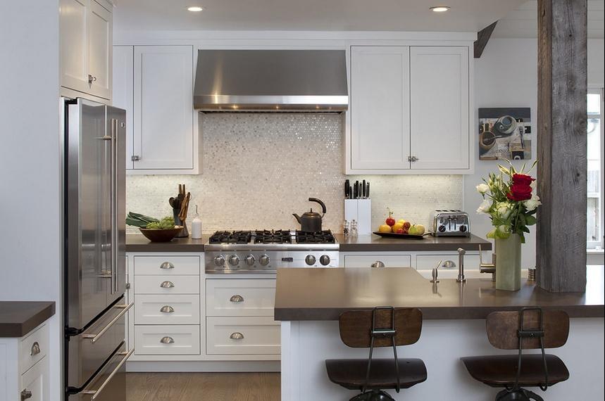 三室两厅简欧风格厨房橱柜装修效果图大全2014图片