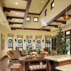 40万打造美式风格客厅装修效果图大全2014图片