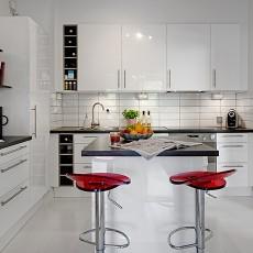 精美86平米混搭小户型厨房装饰图片大全