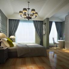 精选面积91平欧式三居卧室装修设计效果图片