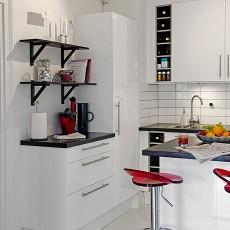 2018小户型厨房混搭装修设计效果图片大全