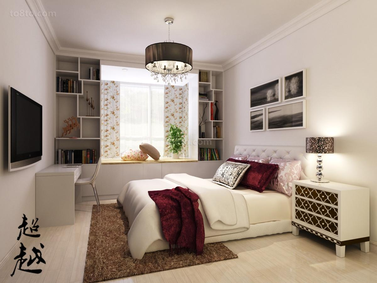 丽都东镇时尚二居室卧室装修效果图大全2014图片