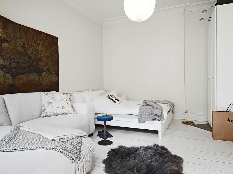 热门76平米混搭小户型客厅装修实景图片大全