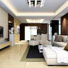 热门100平米三居客厅混搭装饰图片