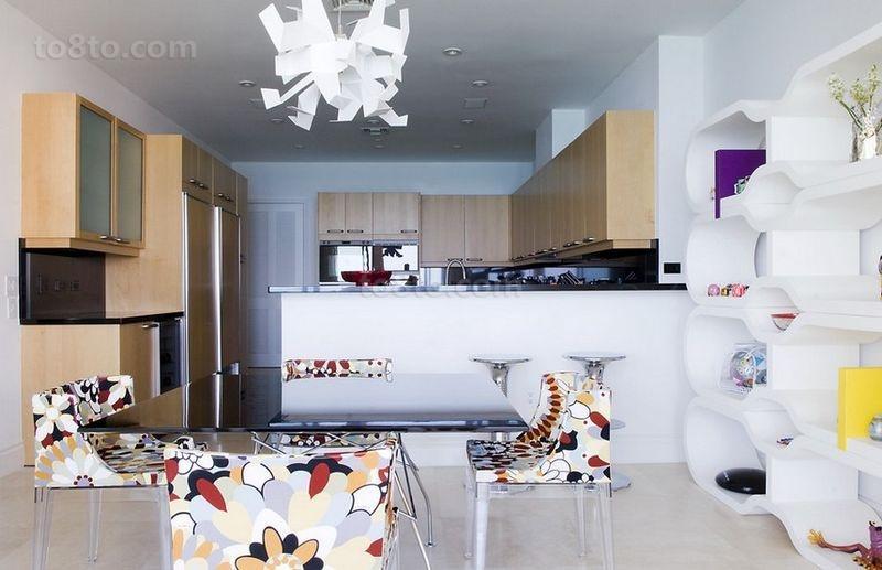 12万打造三居简约风格厨房橱柜装修效果图大全2014图片