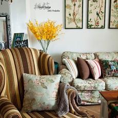 热门117平米田园复式客厅实景图片大全