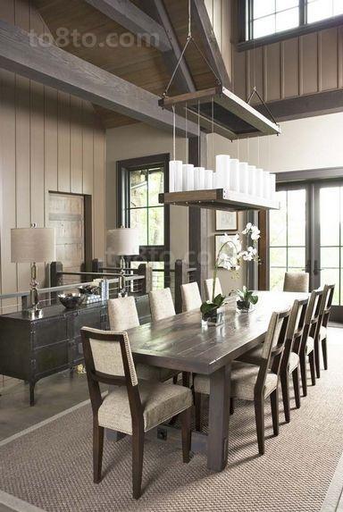 三室两厅灰色调餐厅装修效果图大全2014图片