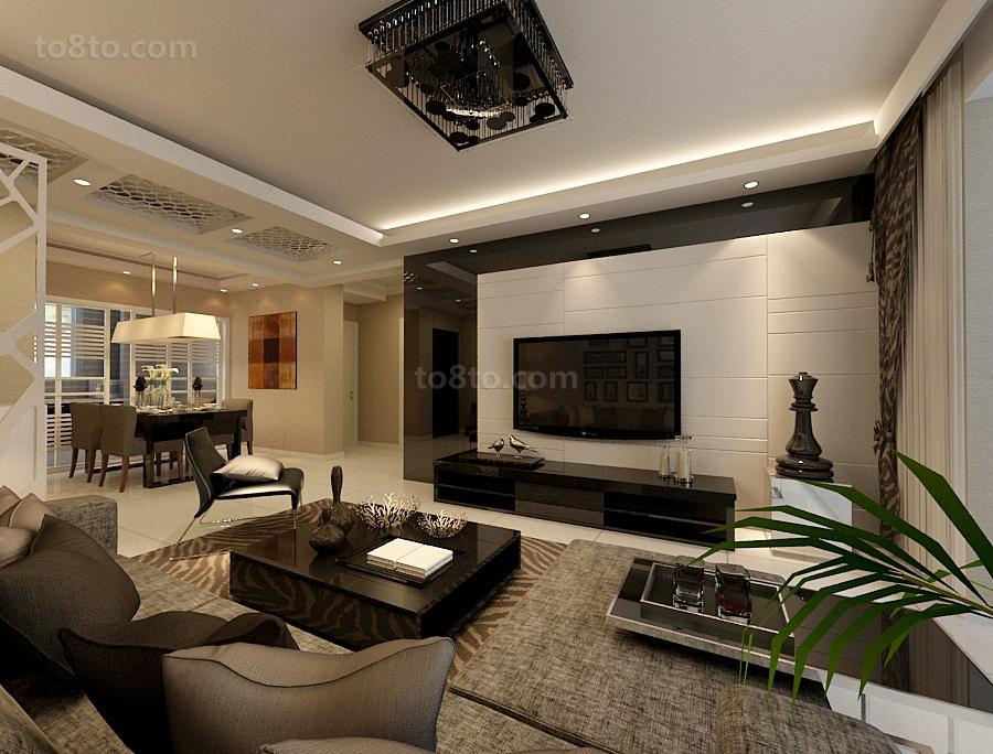 大小98平现代三居客厅装饰图片大全