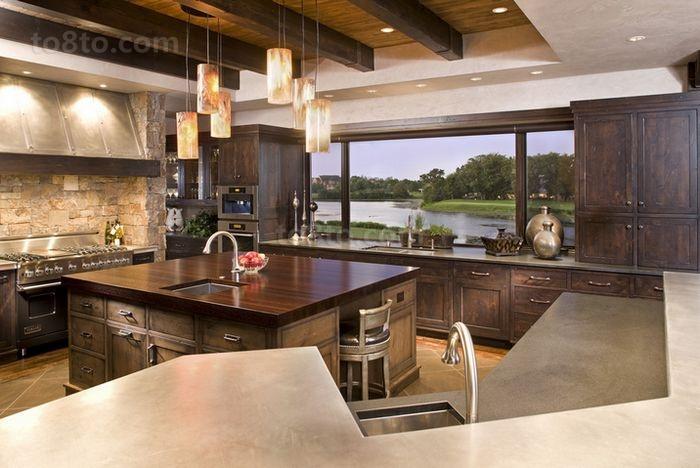 美式复古的小户型厨房装修效果图大全2014图片