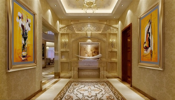 最火127平米混搭别墅玄关装修设计效果图片欣赏