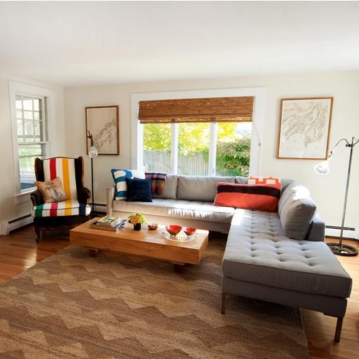 美式风格打造65平米蜗居客厅装修效果图