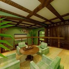 面积83平小户型客厅田园实景图