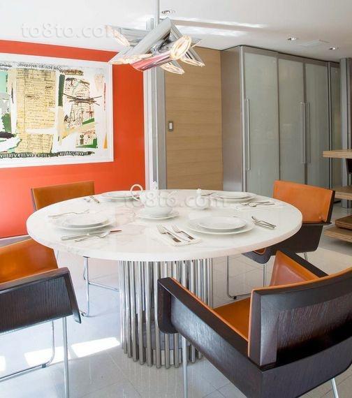 20万打造时尚经典北欧风格餐厅装修效果图大全2014图片
