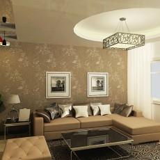 71平方二居客厅现代效果图片大全