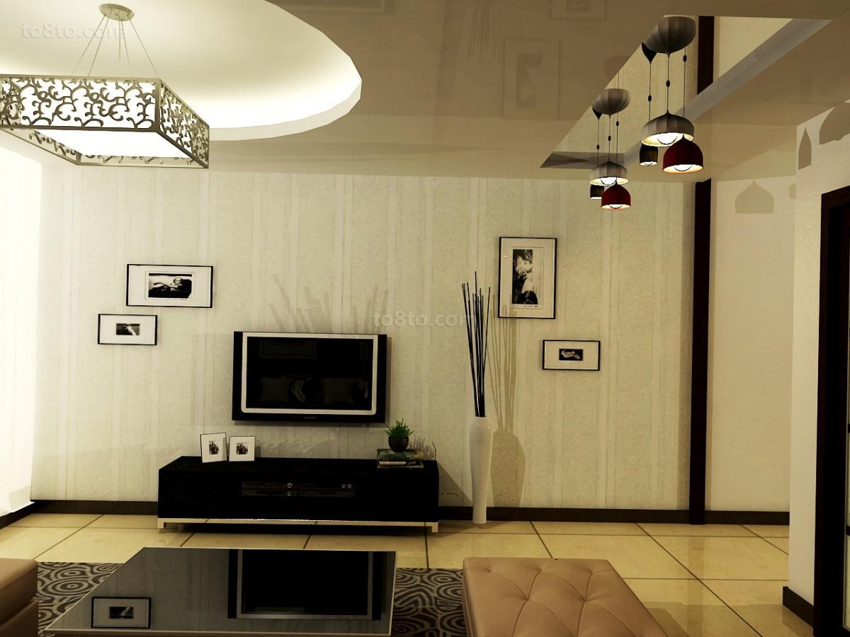 精美79平米二居客厅现代装修设计效果图