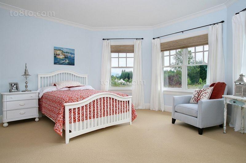18万打造华丽美式风格卧室装修效果图大全2014图片