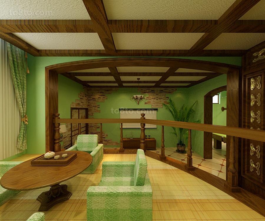 小户型美式乡村餐厅吊顶装修效果图大全2012图片
