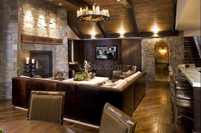 美式复古的小户型客厅装修效果图大全2014图片