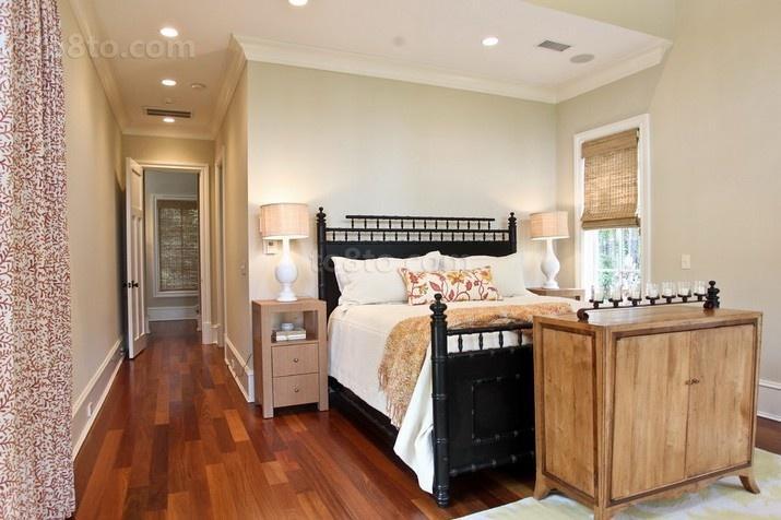 简欧风格温馨的卧室装修效果图大全2014图片
