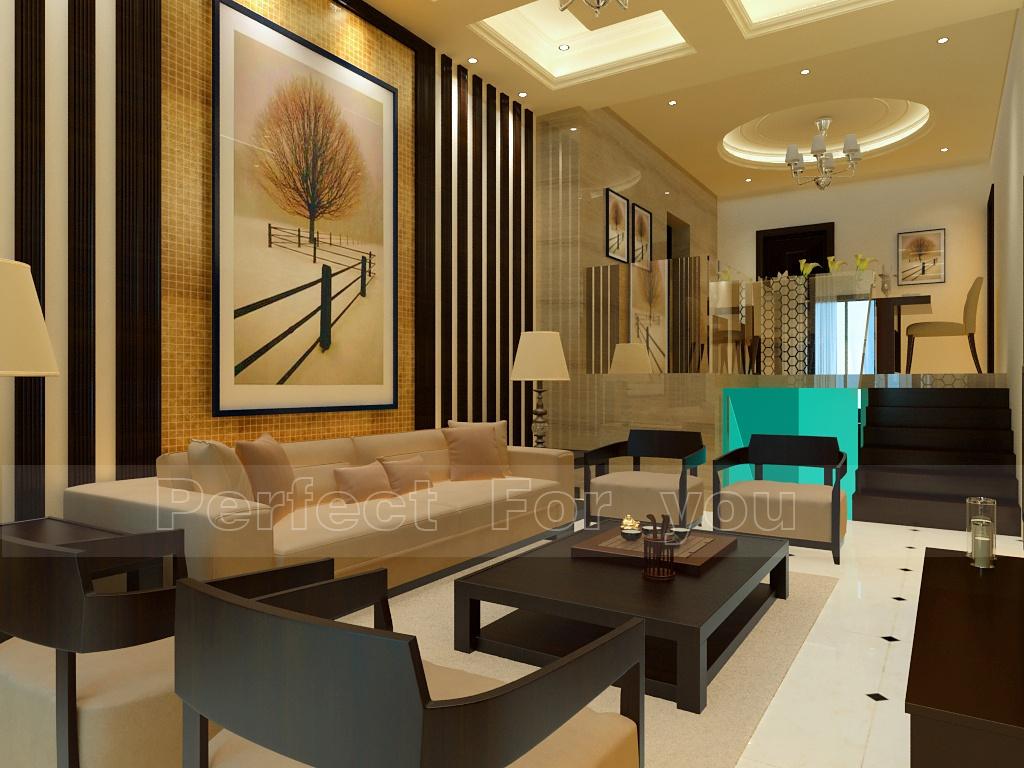 121平米混搭复式客厅装修欣赏图片大全
