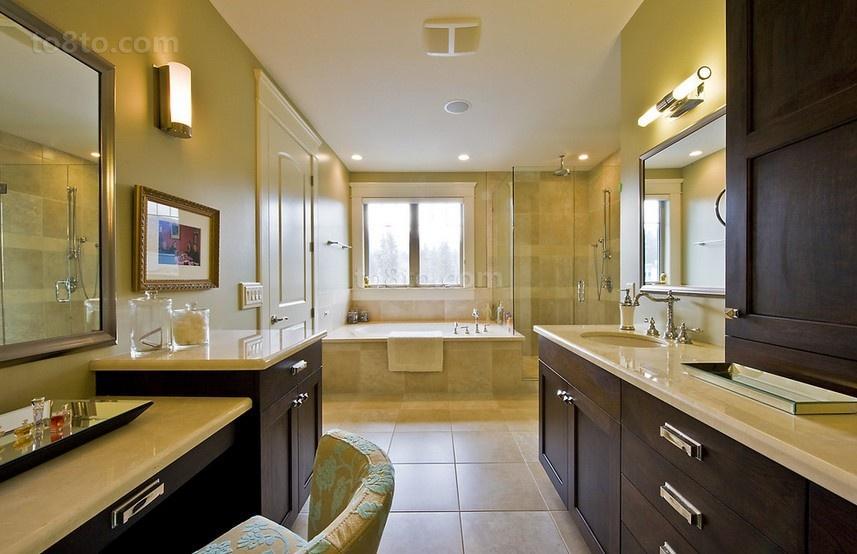 三室两厅欧式风格卫生间装修效果图大全2014图片