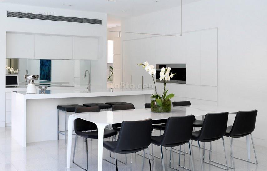 三居室厨房餐厅装修效果图大全2014图片