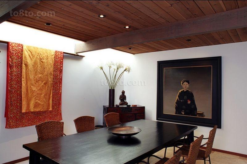 120㎡美式三居餐厅装修效果图大全2014图片