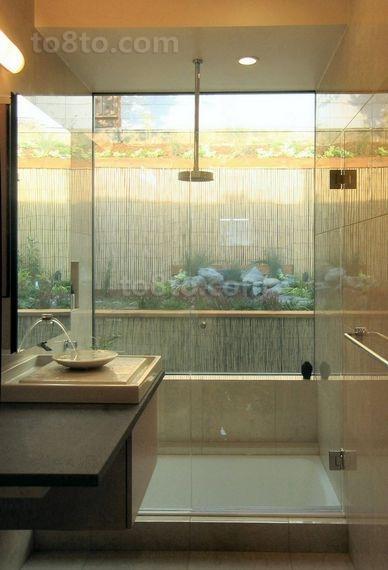 日式风格简约古朴的二居室卫生间装修效果图
