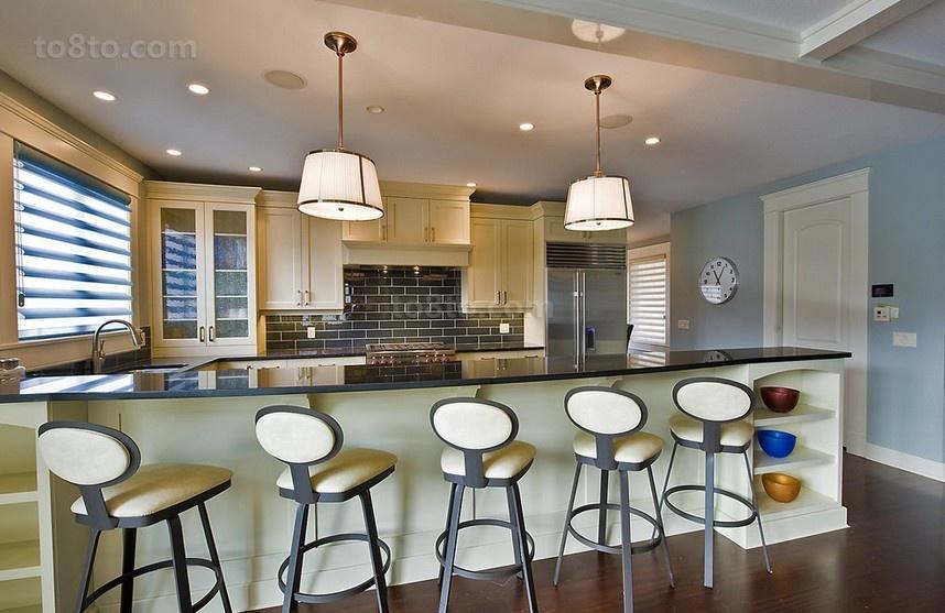 三室两厅创意厨房吧台装修效果图大全2014图片
