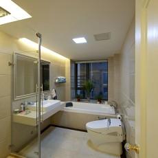 面积125平现代四居卫生间装饰图片欣赏