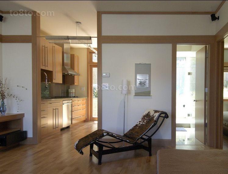 日式风格简约古朴的二居室休息室装修效果图