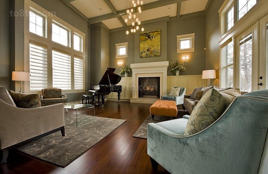三室两厅欧式风格客厅装修效果图大全2014图片