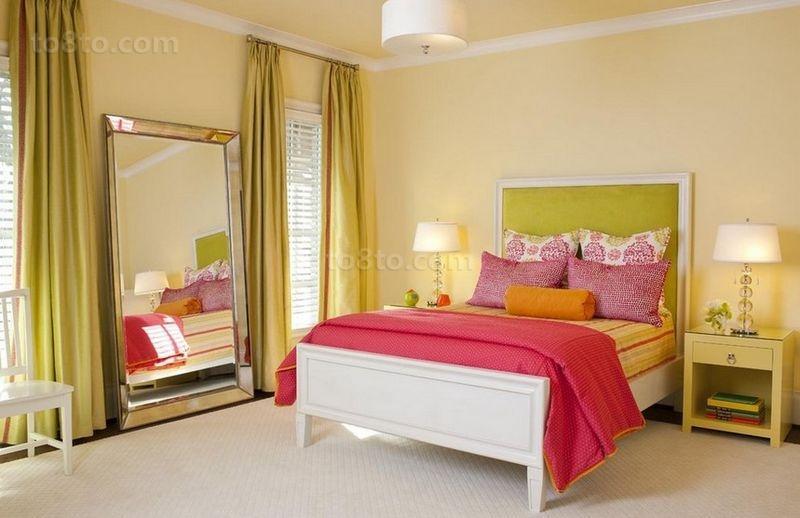 90平小户型装修卧室装修效果图大全2014图片