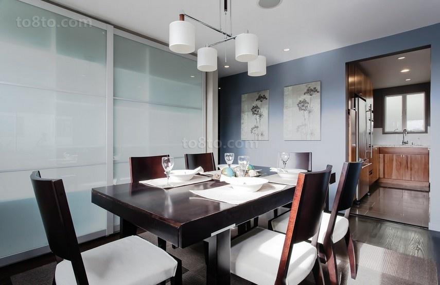 90平米小户型简约风格餐厅装修效果图