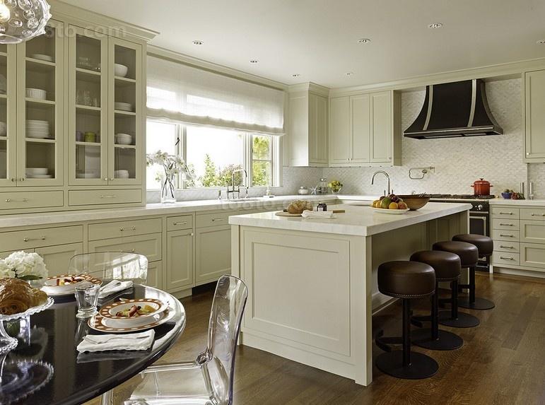 两室一厅洁净的厨房装修效果图大全2014图片