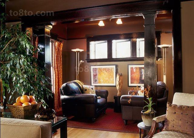 美式风格复式楼客厅装修效果图大全2014图片