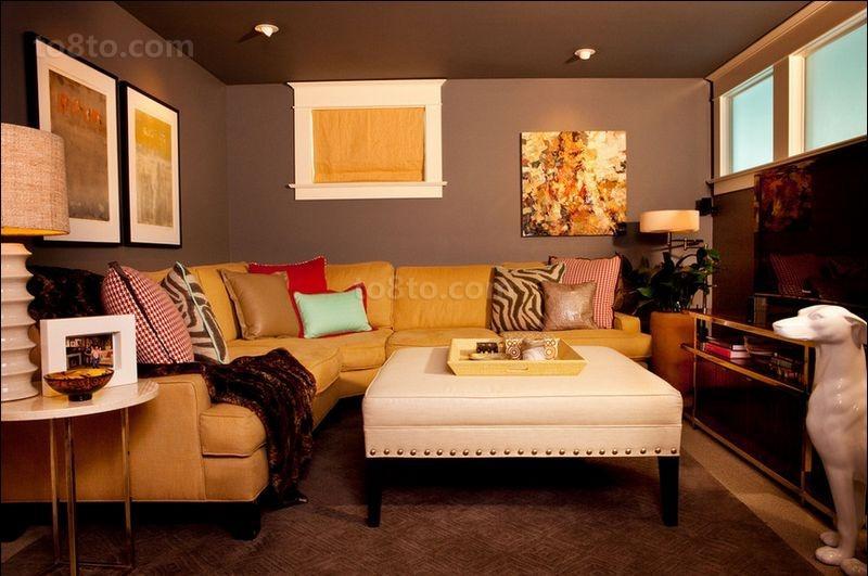 80平米小户型美式浪漫的客厅装修效果图大全2014
