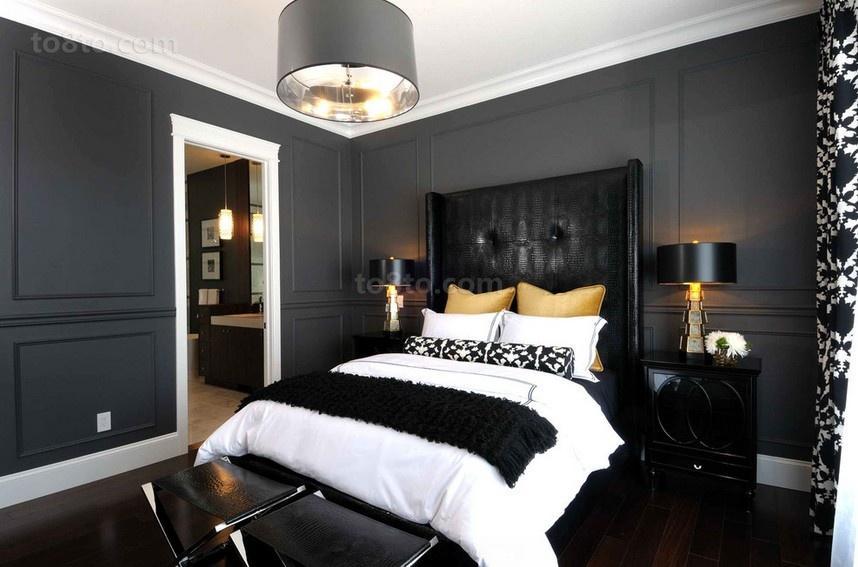 三居室现代卧室装修效果图大全2014图片