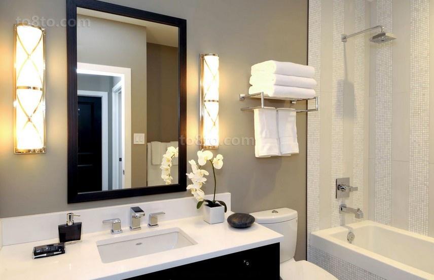 140平三居室卫生间装修效果图