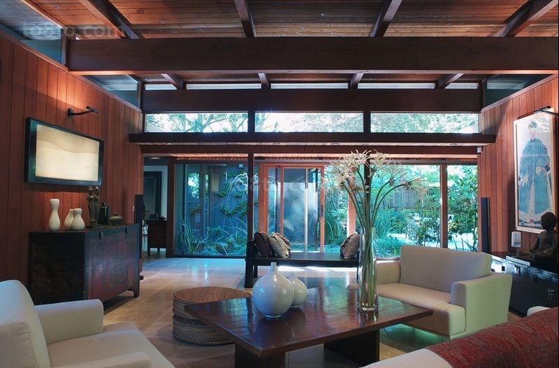 120㎡美式三居客厅装修效果图大全2014图片