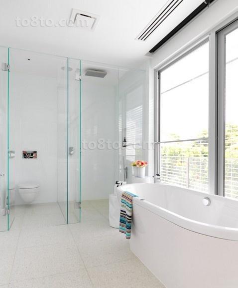 清爽简约打造三居室卫生间装修效果图大全2014图片
