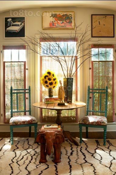 美式田园浪漫的三居室装修效果图
